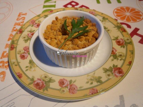 Crumbles de champignons bruns au parmesan et au thym frais