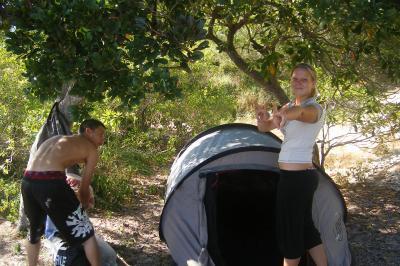 Camping, Jour 1 débalage des tente
