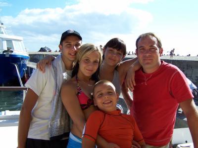 Romain, Anais, Maxim, Mon papa et Moi