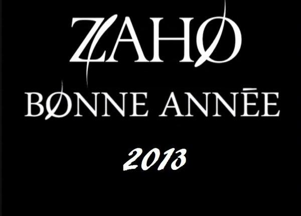 Zaho bonne année 2013 <3