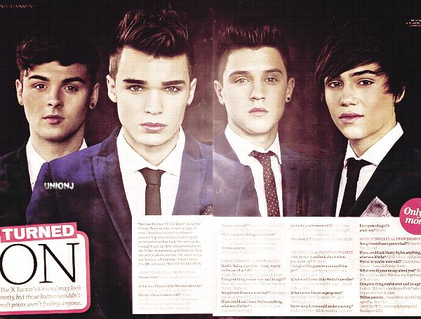 """14/11/2012: Les Union J était à la première du film """"Twilight: Breaking Down, Part 2"""":"""