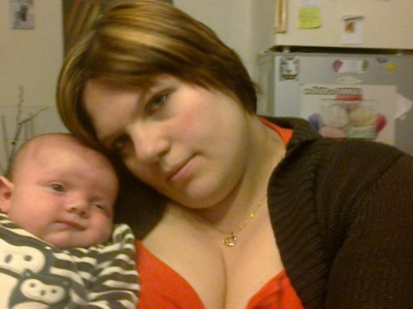 moi et mon fils a 2 mois