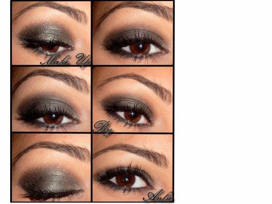 make up by anlie smoky eye noir paillet dor natural. Black Bedroom Furniture Sets. Home Design Ideas
