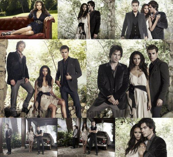 Elena; Damon et Stefan