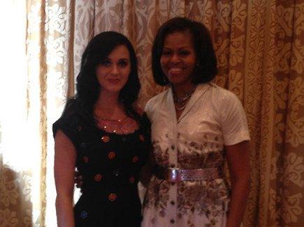 Katy a fêter son anniversaire avec... Michelle Obama !