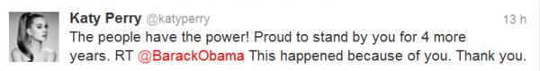 Barack Obama & Katy : C'est la fête sur Twitter depuis hier soir !
