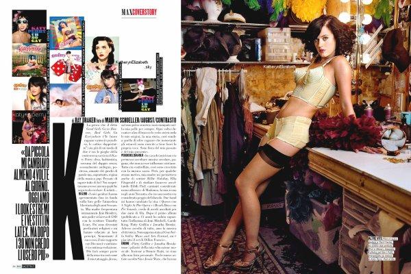 """Katy fait la couverture du magazine Italien """"Max"""". (Mai 2013)"""