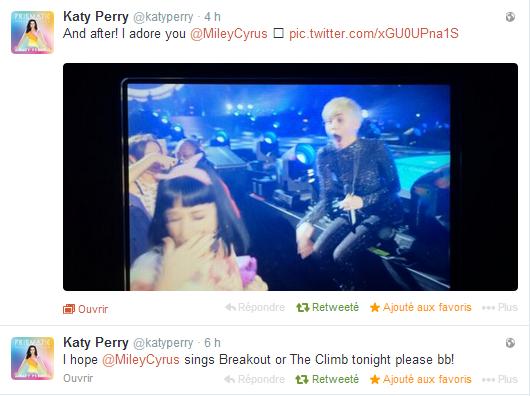 +  22.02 : Katy au concert de Miley.C à LA // [KID'S AWARDS] Nominations + Vote // + Infos