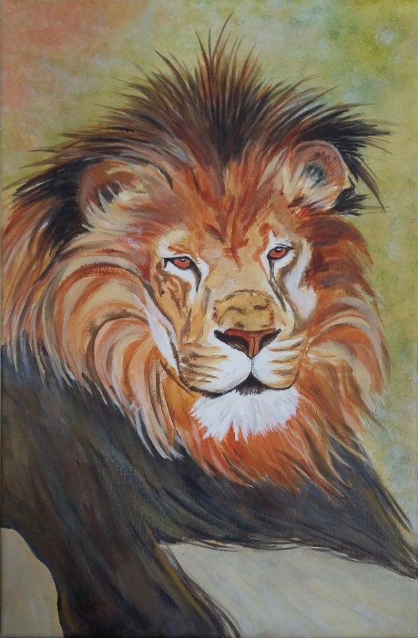 Lion - Acrylique