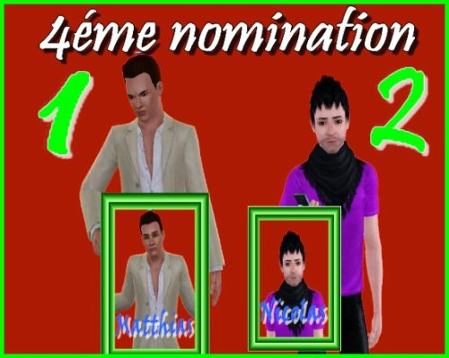 Résultats des 4émes nominations