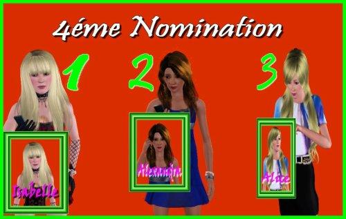 Résultats des 5émes nominations.