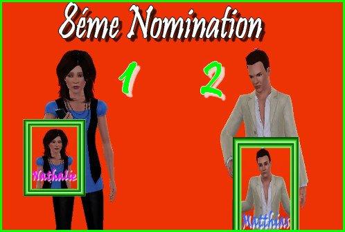 Résultats des 8émes nominations