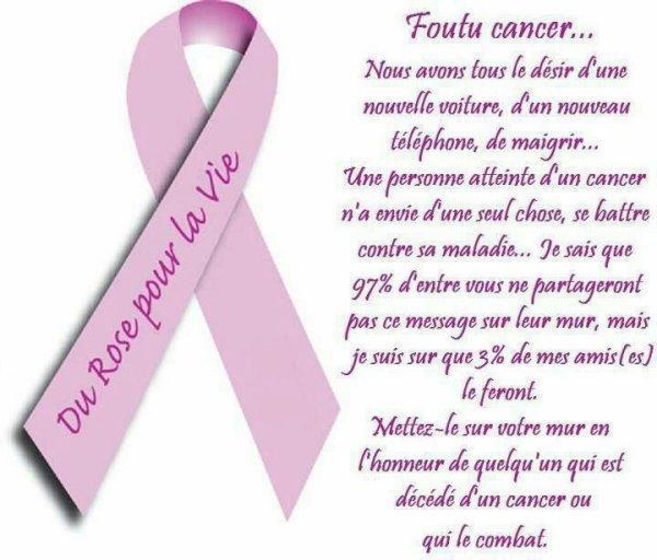 a tout ceux qui un cancer
