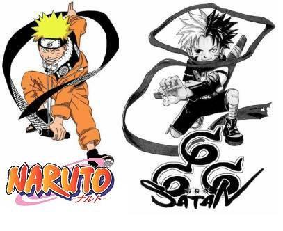 Les ressemblances entre Naruto et 666 Satan