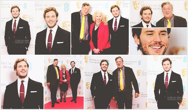 """__9 Janvier 2015 l Sam était présent aux nominations pour l""""EE British Academy Film Awards"""" __ Je trouve Sam extrêmement beau sur cette apparition, son costume est top. Toujours souriant mon Sam : ) Qu'en pensez-vous ?"""