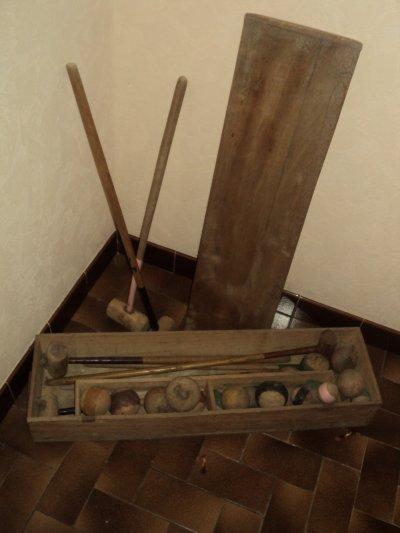 vide grenier : jeu de croquet