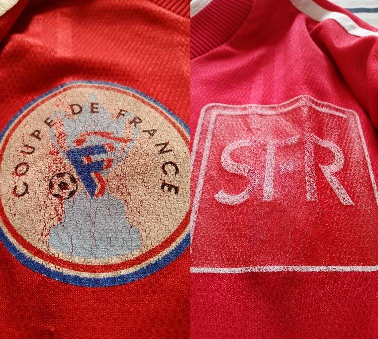 Maillot vintage porté en coupe de France en 2001