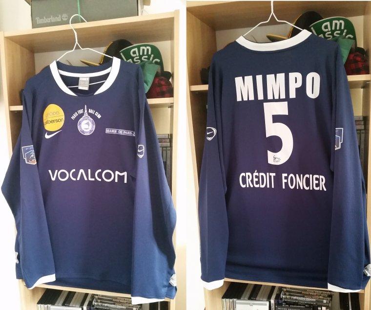 Maillot du Paris FC porté par S. Mimpo en 2008-2009