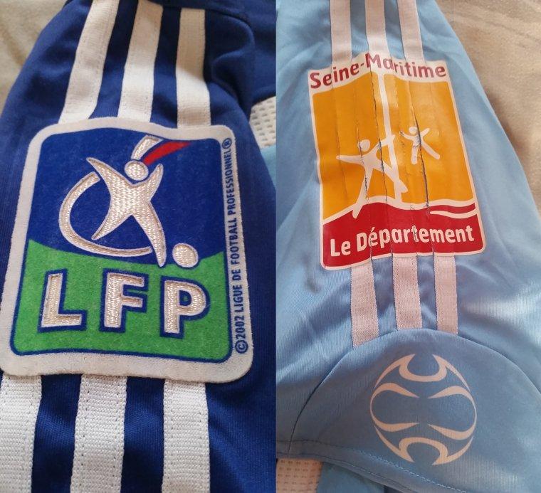 Maillot du Havre porté par Jean Michel Lesage domicile 2006-2007