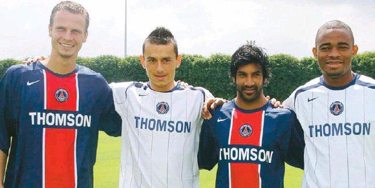 Maillot Porté Du PSG Par B. Kalou Ext 2005-2006
