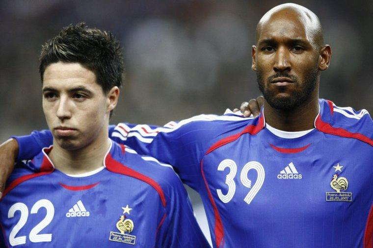 Maillot de l'équipe de France porté Par N.ANELKA contre la Lituanie