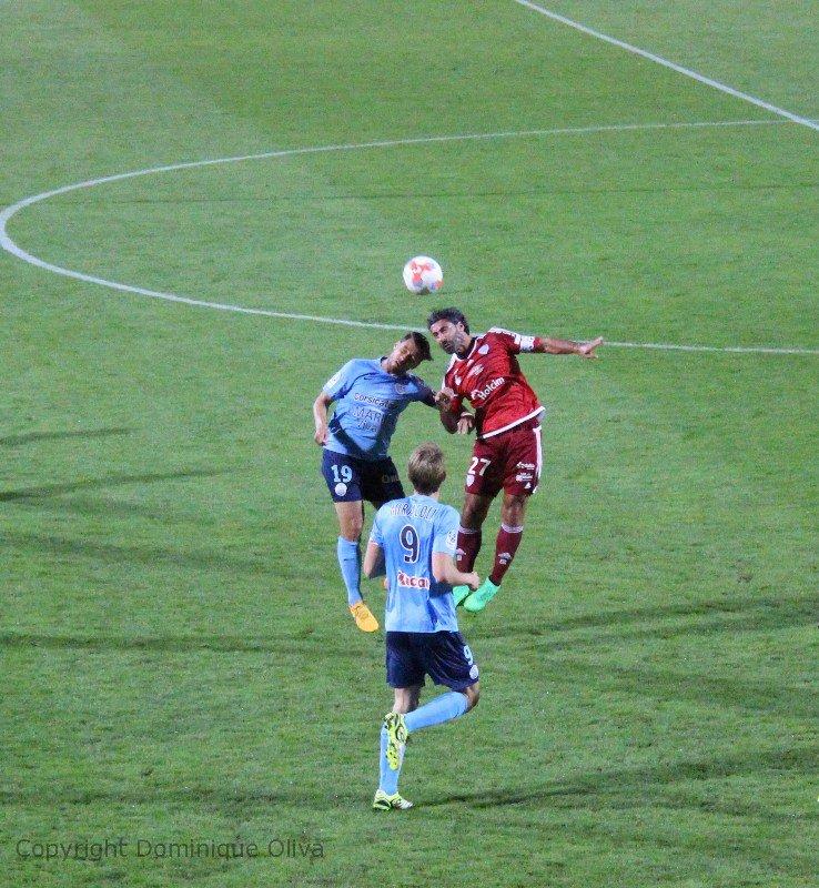 Maillot de l'US Créteil porté par Di Bartoloméo extérieur contre le Tours FC