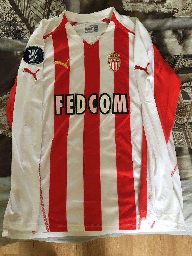 Maillot de l'AS Monaco porté en coupe de l'UEFA par N. Maurice Belay en 2005-06