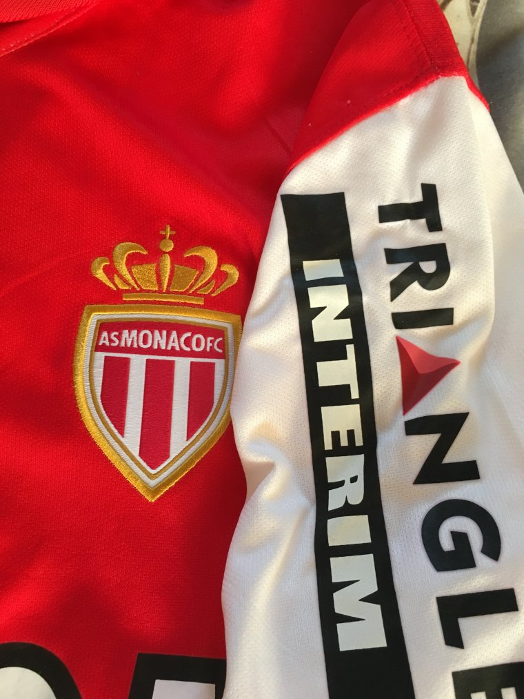 Maillot de l'AS Monaco porté par E. Echiejile en 2014-15