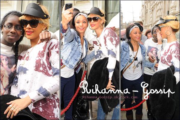 RIHANNA-GOSSiP.SKYROCK.COM28/02/12 Rihanna quittant son hôtel à Londres.