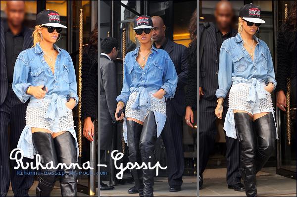 RIHANNA-GOSSiP.SKYROCK.COM29/02/12 Rihanna quittant son hôtel à Londres.
