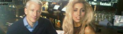 """-       TWITTER ~       Gaga à posté une nouvelle photo via twitter avec ce message et l'image ci-dessous """" Sur le point de faire ma toute première interview pour """"Born This Way"""", je suis tellement excitée et heureuse!  """" -"""
