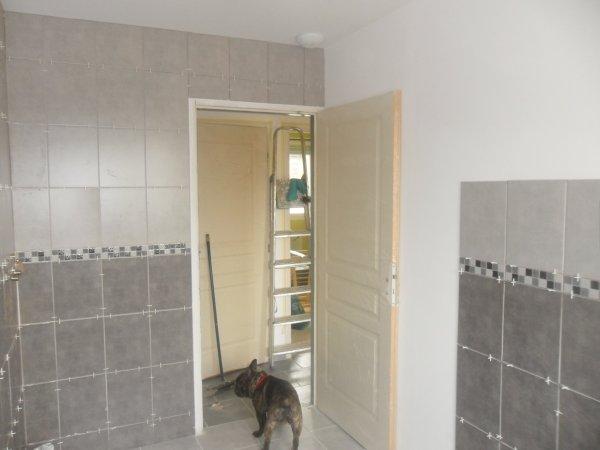 Week end du 12 au 14 avril 2013 faience salle de bain et parquet chambre Nathan