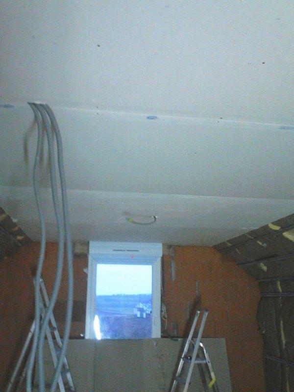 plaquage du plafond