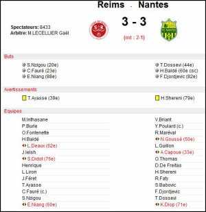 2007 Ligue 2 J38 REIMS NANTES 3-3, le 16 mai 2008