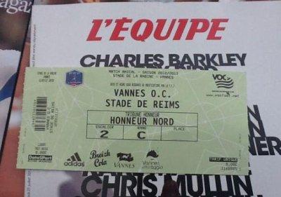 2012 AMICAL : VANNES REIMS 1-5  , Le live, le 21 juillet 2012