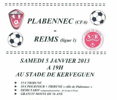 2012 CDF32 PLABENNEC REIMS , l'avant match, le 5 janvier 2013