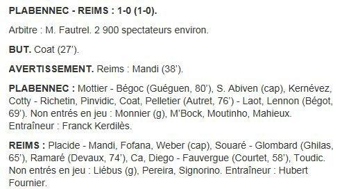 2012 CDF32 PLABENNEC REIMS  1-0 , le 5 janvier 2013