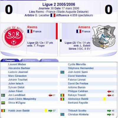 2005 Ligue 2 J30 REIMS AMIENS 0-0, le 17 mars 2006