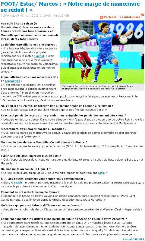 2012 Reims  Brèves du Jour, le 7 mars 2013