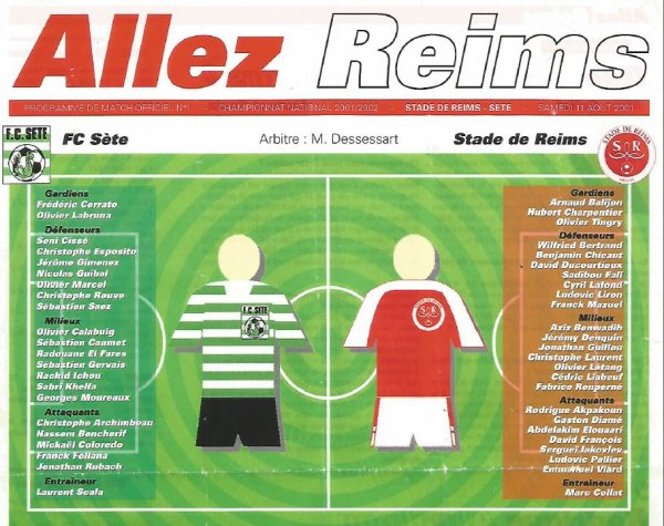2001 NAT J02 REIMS SETE 0-0, le 11 aout 2001