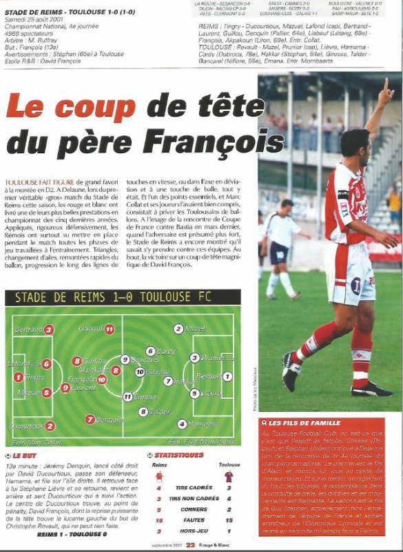 2001 NAT J04 REIMS TOULOUSE 1-0, le 24 août 2001
