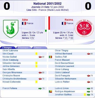 2001 NAT J20 SETE REIMS 0-0, le 12 janvier 2002