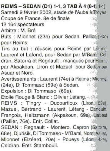 2001 CDF08 REIMS SEDAN 1-1 ( 3-4 tab ) , le 9 février 2002