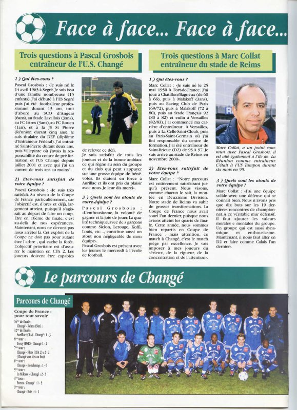 2001 CDF16 CHANGE REIMS 0-3, le 19 janvier 2002