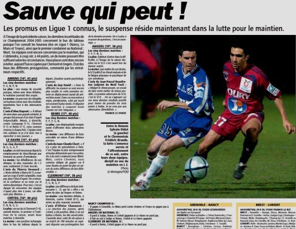 2004 Ligue 2 J37 REIMS CLERMONT 3-0, le 20 mai 2005