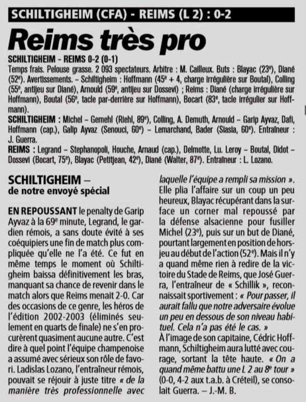2004 CDF32 SCHILTIGHEIM REIMS 0-2, le 8 janvier 2005