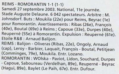 2003 NAT J11 REIMS ROMORANTIN 1-1, le 27 septembre 2003