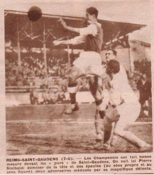 1949 CDF 16ème : REIMS SAINT GAUDENS 7-0, le 5 février 1950