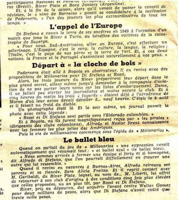 1955 CCC REAL MADRID REIMS, Olé DI STEFANO ,le 13 juin 1956