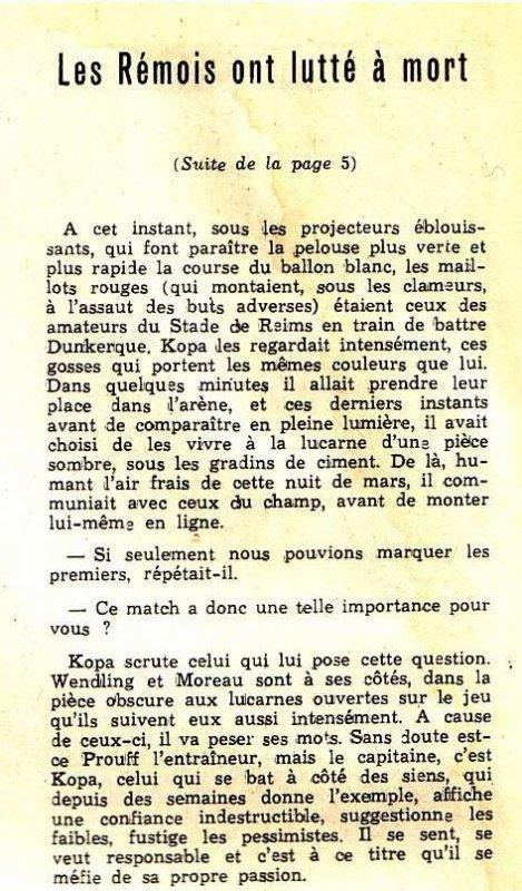 1963 D1 J25 REIMS SAINT ETIENNE 3-1, le 14 mars 1964
